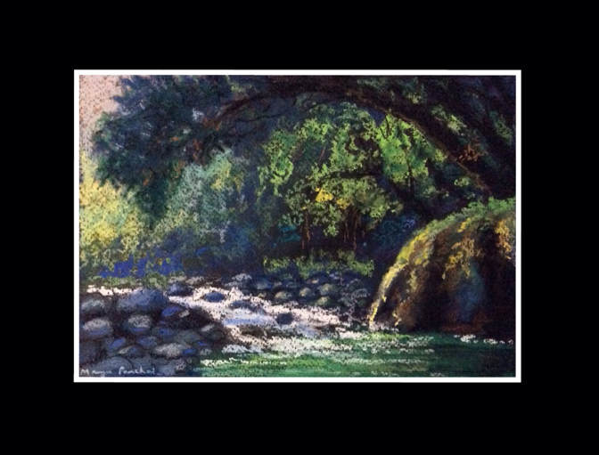 soft pastel painting of landscape by Manju Panchal