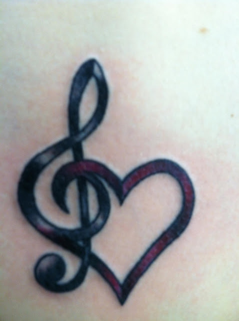 Love & Music Tattoo Designs