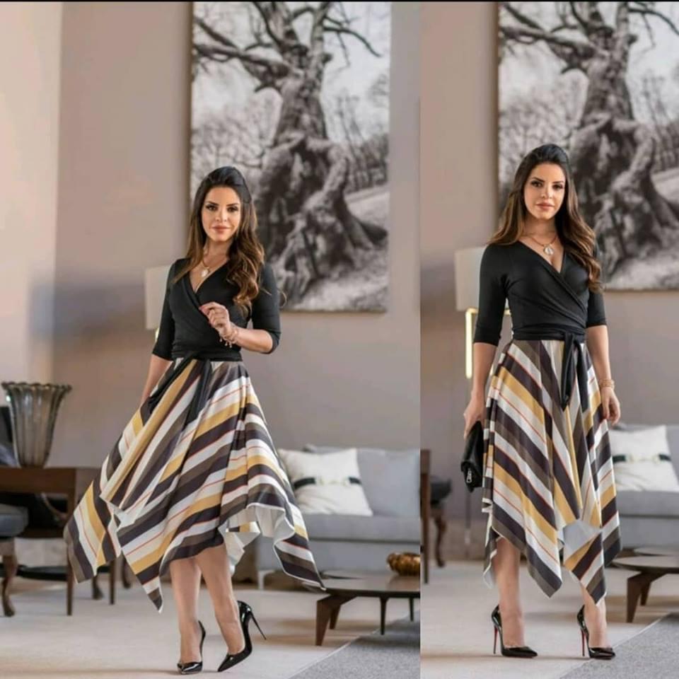 6e87123ea E na loja Flor de Amêndoas você encontra os mais modelos de saias e blusa  da moda como essa opção que mostro na foto abaixo perfeito para uma festa  ou até ...