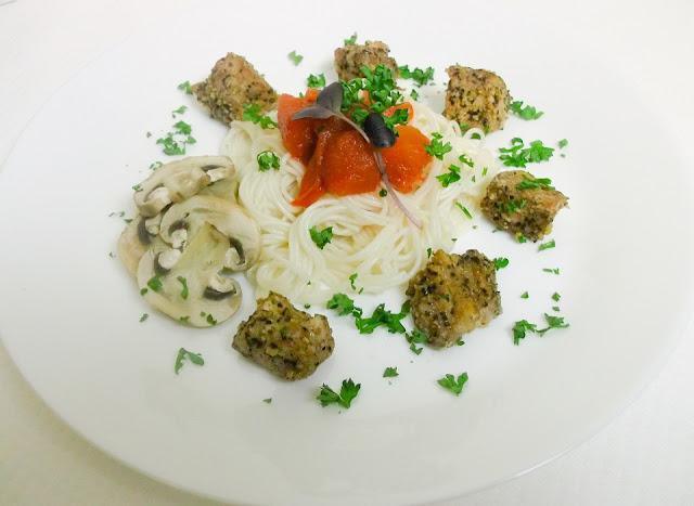 mięso z makaronem na obiad fit, zdrowe odżywianie