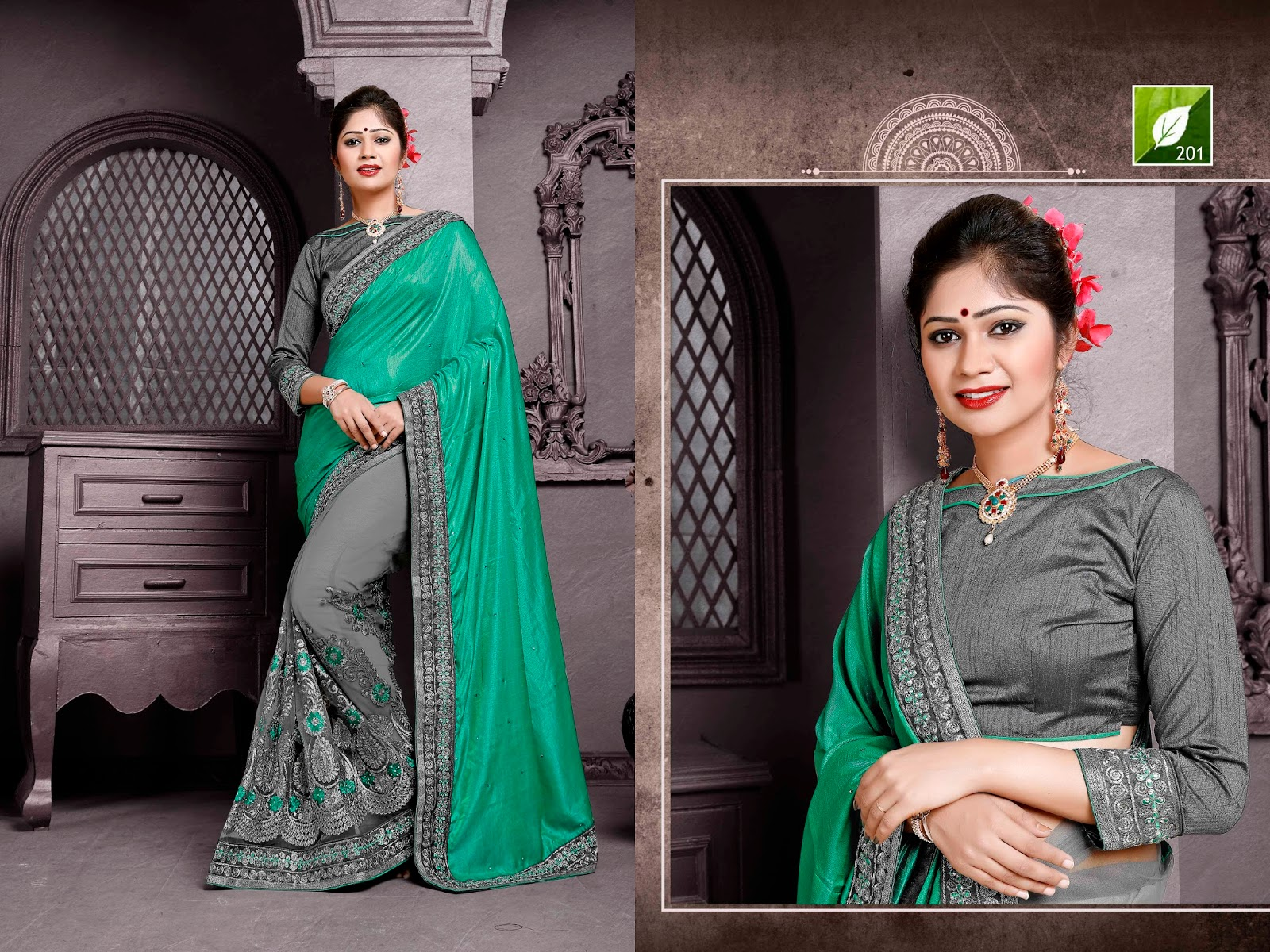 Tulsi Saree – Silk With Mono Net Designer Saree