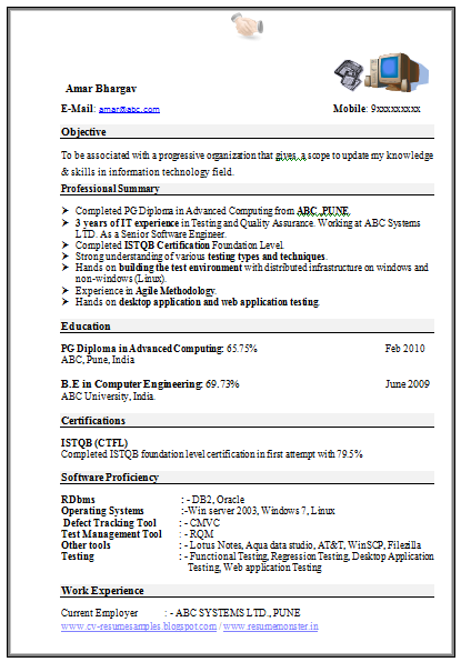 resume computer information systems