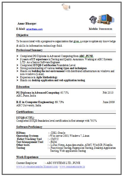 computer engineer cv example