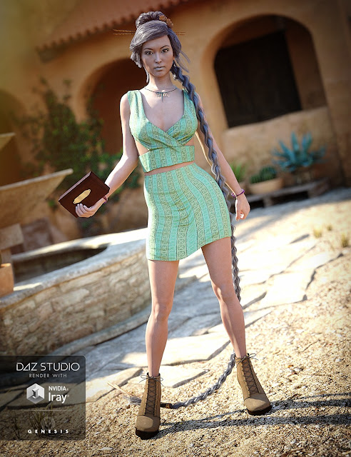 Trendy Fun Outfit for Genesis 3 Female