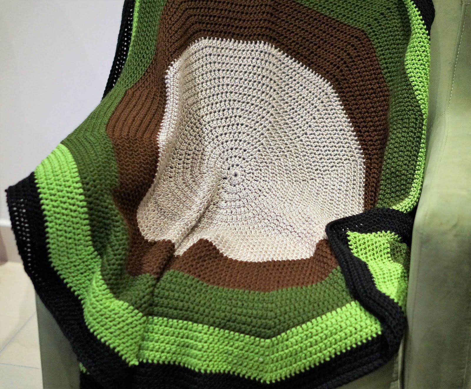 How To Crochet A Round Circle Afghanee Pattern