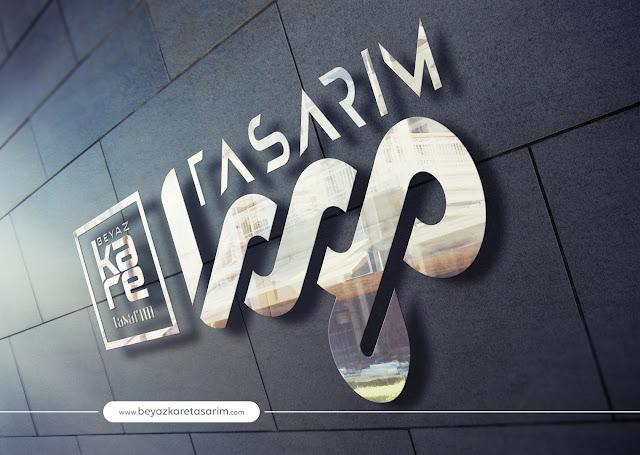 3D logo tasarımı metal crom