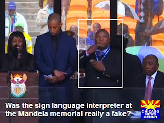 fake sign language interpreter at Mandela memorial