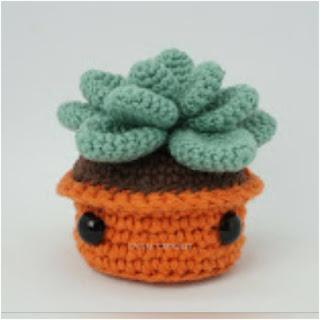 patron amigurumi Planta suculenta canal crochet