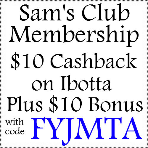 $10 Sam's Club Membership Cashback through ebates Jan, Feb, March, April, May, June, July, Aug, Sep, Oct, Nov, Dec