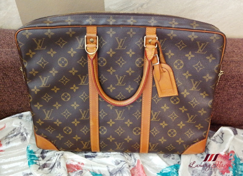 louis vuitton monogram porte documents voyage review