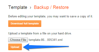 How to back up blogger template