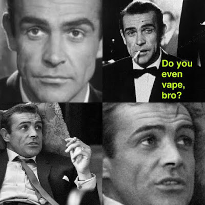 Do you even vape bro James Bond meme smoking Sean Connery