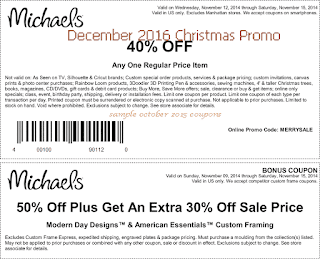 Michaels coupons for december 2016