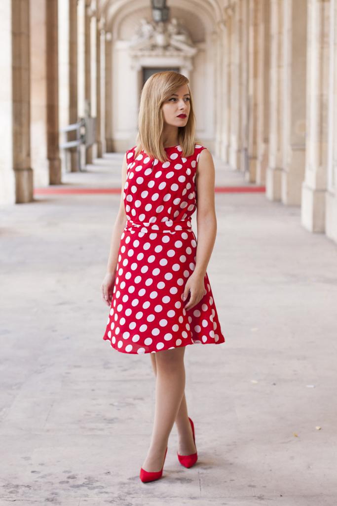 rochie cu buline bonprix