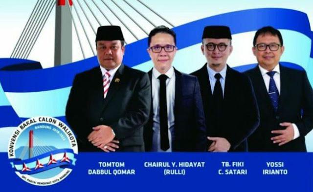 Demokrat Tetapkan 4 Bakal Cawalkot Bandung  2018 Hasil Penjaringan