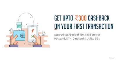 Freecharge Offer-Get Upto Rs.300 Cash Back on your first transaction
