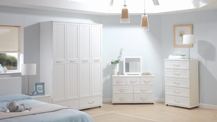 Dormitorio blanco elegante dise o en color blanco limpio for Diseno de dormitorio blanco