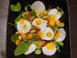 turnip lentil salad