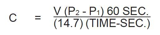 Formula menghitung kapasitas kompresor aktual
