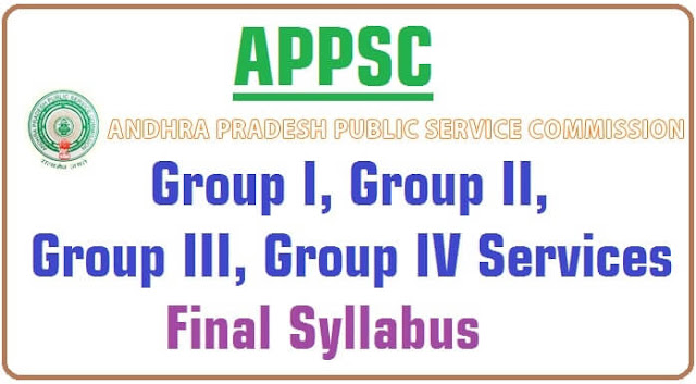 APPSC,Group-I,Group-II,Group-III,Group-IV,Final Syllabus