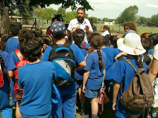 Nos visitaron de la escuela Vocos Lescano.