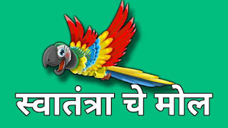 This image shows a bird is free and flying independently and is used for Marathi essay swatantrache mole