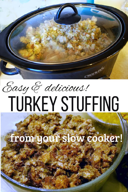 Save space in your oven and on your stove-top by making this easy, delicious stuffing (or dressing) in your slow-cooker or Crock-pot.