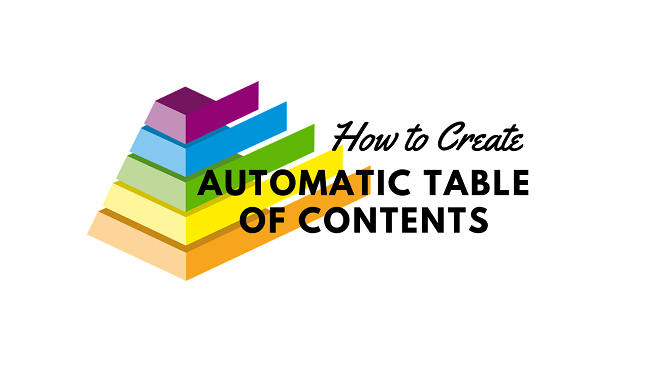 How to Automatically Create Table of Contents in Blogger Posts