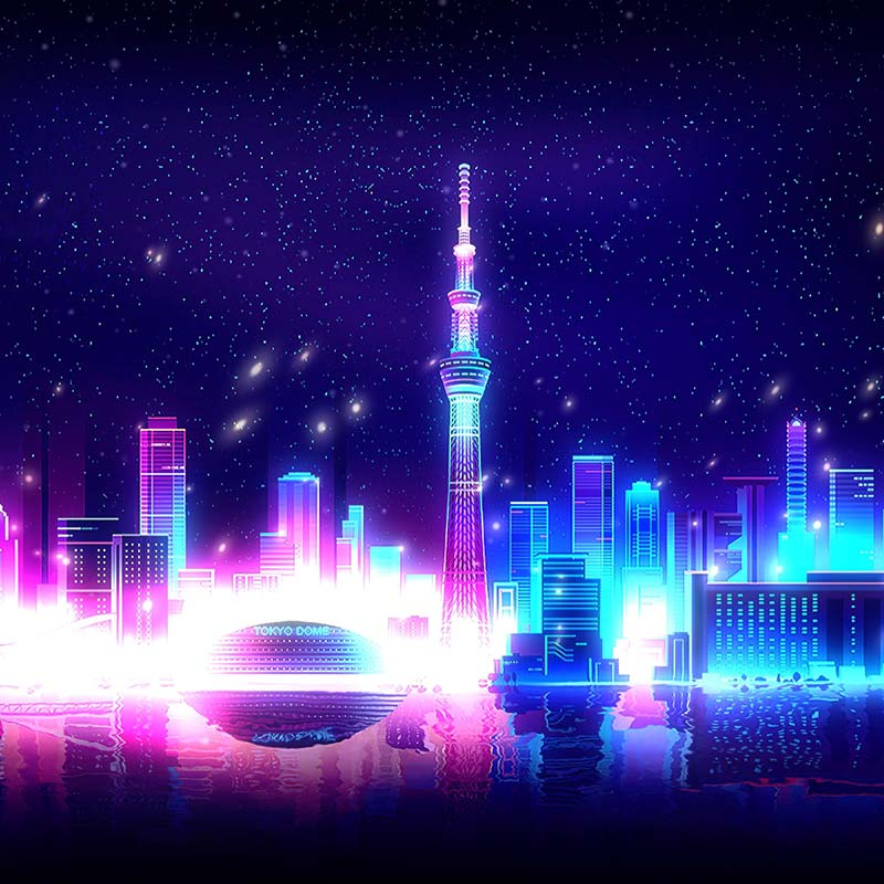Neon City - Tokyo Dome Wallpaper Engine