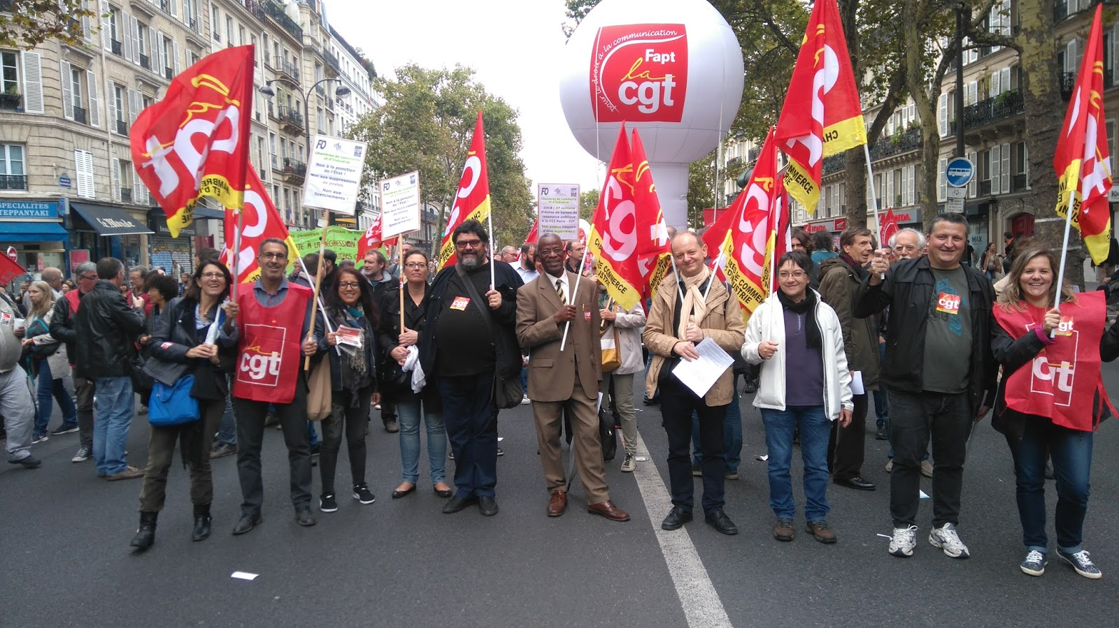 Chambre De Commerce Et D Industrie Paris Manifestation Du 10 Octobre 2017 Syndicat Cgt Cci Paris Idf