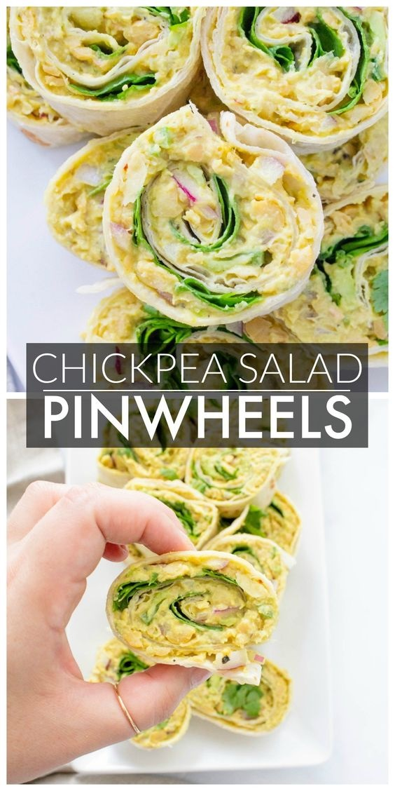 Chickpea Salad Pinwheels