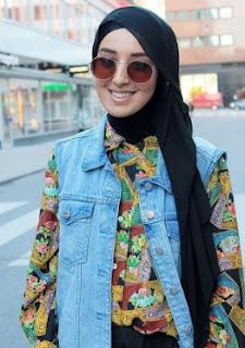 Padu Padan Rompi Jeans Untuk Hijabers Gaya Modis Kekinian