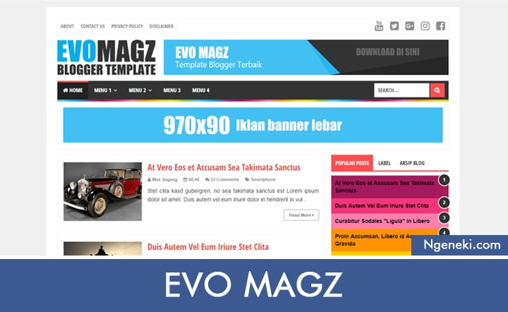 Template Blogger Evo Magz