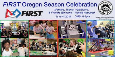 Photos of FIRST Oregon teams participating in our programs