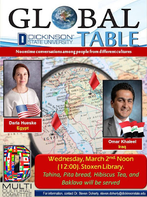 Dickinson state university global table cultural diversity North Dakota