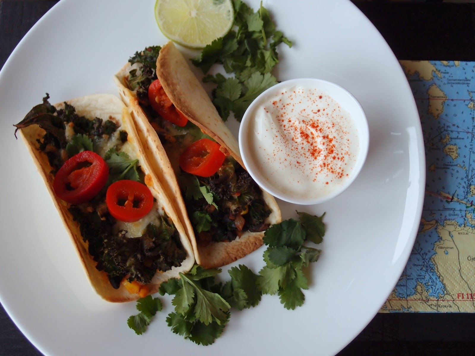 The VegHog: Black bean and kale tacos