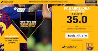 betfair supercuota Barcelona gana al Betis 11 noviembre