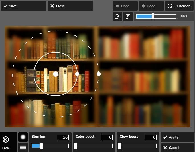 Menggunakan Tool Blur Pixlr Express Untuk menyamarkan Foto