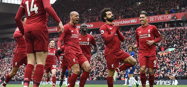 FÚTBOL: Egipcio Mohamed Salah que marcó el segundo tanto del Liverpool en la victoria por 2-0 contra el Chelsea