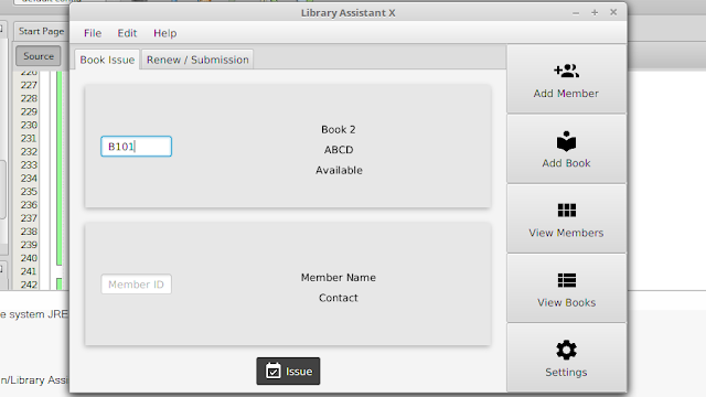 Library Software using JavaFX