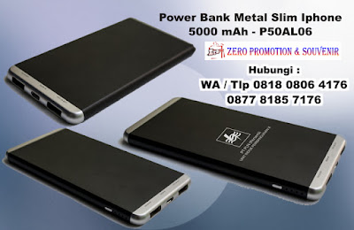 Jual Power Bank Metal Slim Iphone 5000 mAh - P50AL06