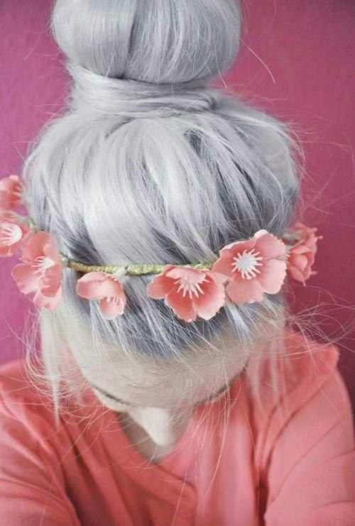 Silver Metallic hair color