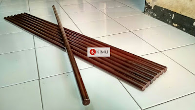 KIMU Dark Dragon Jo (tongkat 128cm warna coklat kayu)