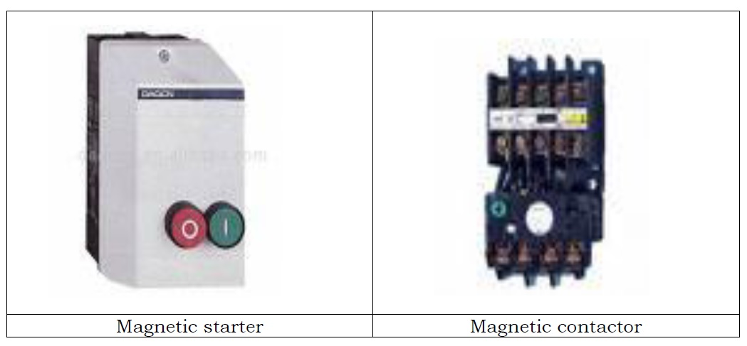 Electrical Relay And Magnetic Contactors Motor Control Operation