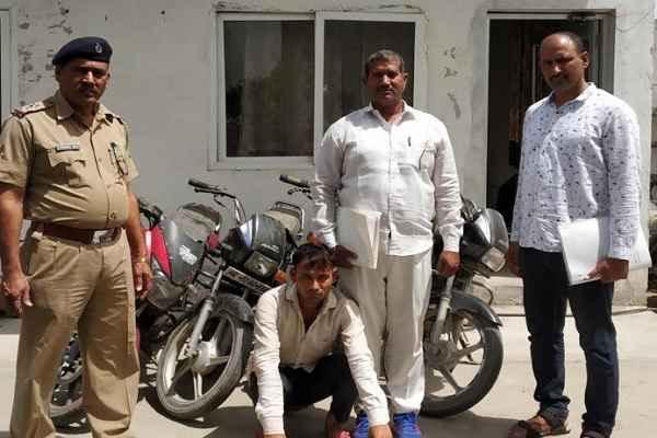 crime-branch-sector-85-arrested-chor-firoj-khan-in-6-fir-recover-4-bikes