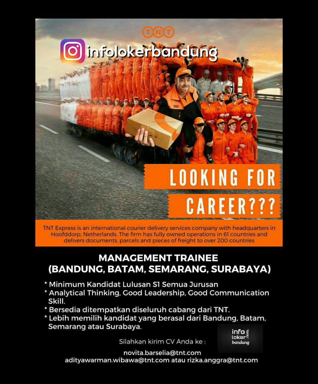 Lowongan Kerja TNT Bandung Mei 2017