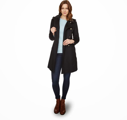 Rainy day chic mother distracted for Boden jennie coat