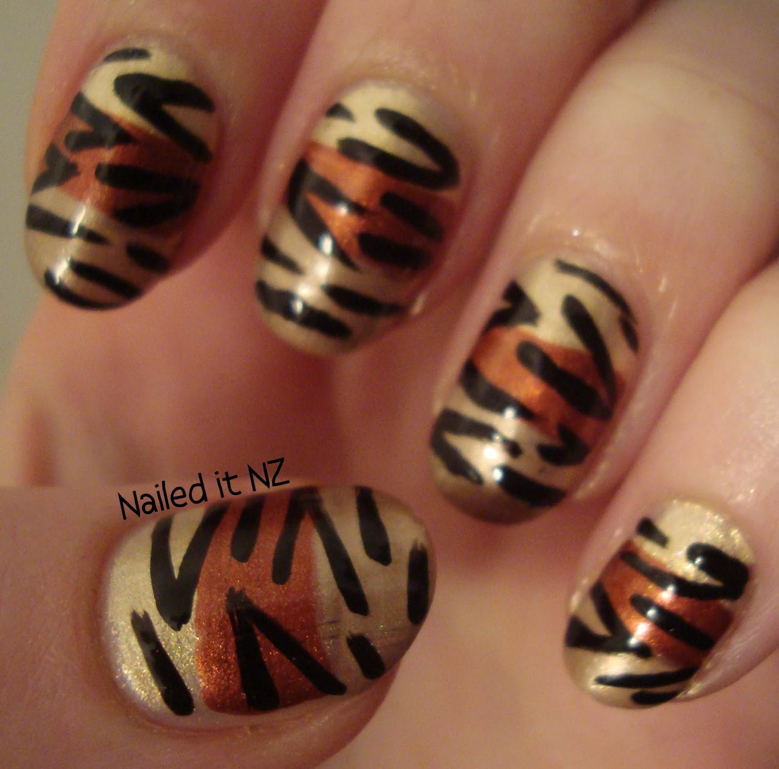 Glitter Gradient And Tiger Stripes