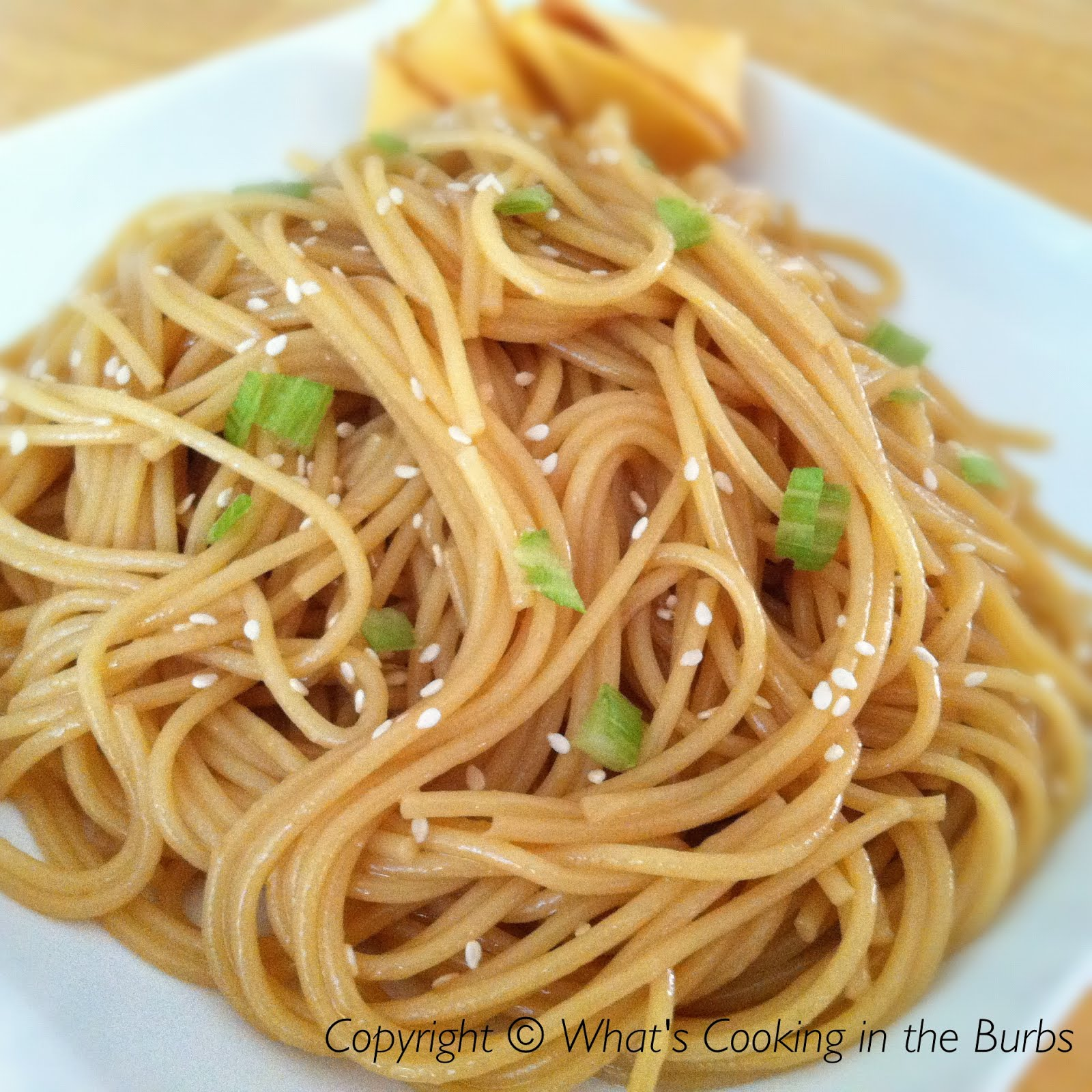 What's Cooking in the Burbs: Honey Sesame Noodles
