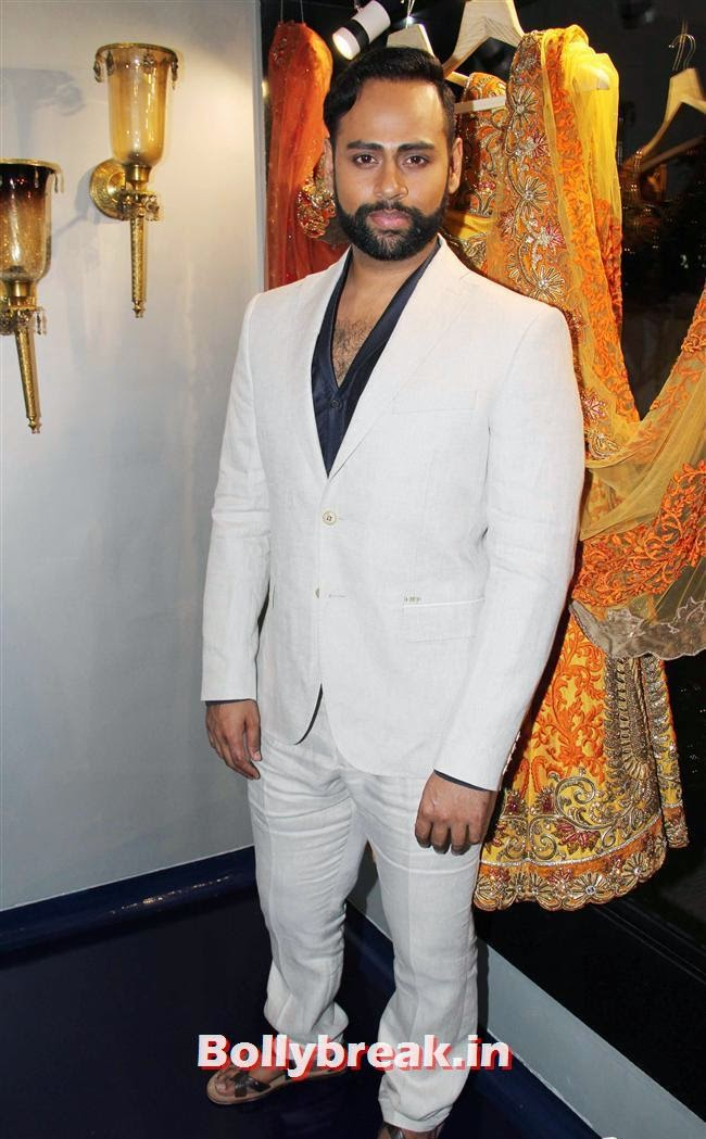 VJ Andy, Celebs at Opening of Mayyur Girotra Couture